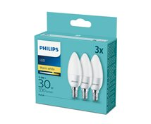 Philips 3,5W (30W) 330Lm 2700K E14 Kron 3-Pack * 98X35mm
